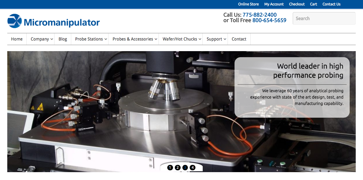 Micromanipulator Launches E-commerce Website